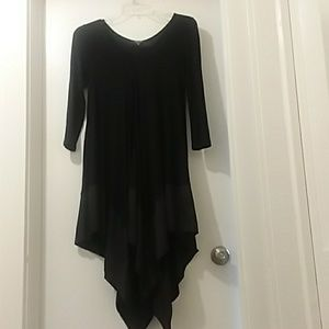 CQ by CQ BASIC dress black fancy bottom trim Small